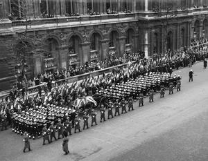 THE FUNERAL OF SIR WINSTON CHURCHILL KG, 30 JANUARY 1965