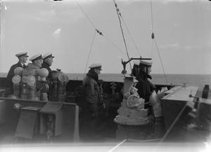WITH THE BRITISH NAVY IN GREECE. JANUARY 1945, ON BOARD THE CRUISER HMS SIRIUS.