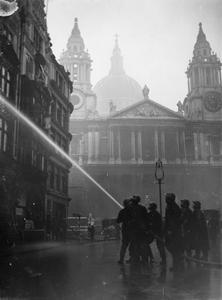 LONDON SMOULDERS AFTER FIRE BLITZ