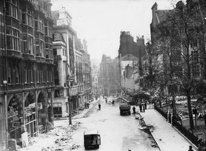 LEICESTER SQUARE UNDER THE BLITZKRIEG