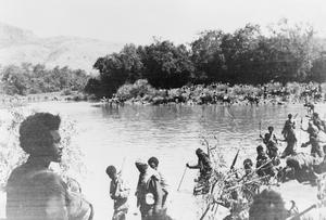 THE RECONQUEST OF ETHIOPIA - STRIKING PICTURES. THE CROSSING OF THE OMO, 23 MAY 1941