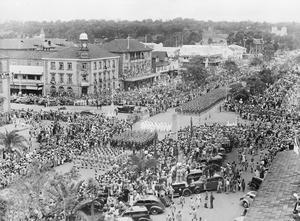 THE VJ DAY CELEBRATIONS, 15 AUGUST 1945