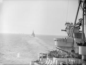 THE BRITISH NAVY GOES TO DENMARK. 7 TO 9 MAY 1945, ON BOARD THE CRUISER HMS BIRMINGHAM ON PASSAGE TO, AND ON ARRIVAL IN COPENHAGEN. THE BRITISH FORCE UNDER THE COMMAND OF CAPTAIN H W WILLIAMS, RN, PUT IN AT COPENHAGEN AFTER THE SURRENDER OF THE REMNANTS OF THE GERMAN FLEET.