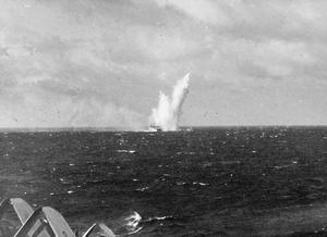 BRITISH TASK FORCE ATTACKS THE SAKISHIMAS. MAY 1945, ON BOARD THE AIRCRAFT CARRIER HMS ILLUSTRIOUS DURING THE NAVAL AIR ATTACK BY THE BRITISH PACIFIC FLEET TASK FORCE ON THE SAKISHIMA ISLANDS IN SUPPORT OF THE US LANDING IN OKINAWA.