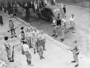 WITH THE NAVY IN HONG KONG. SEPTEMBER 1945, HONG KONG.