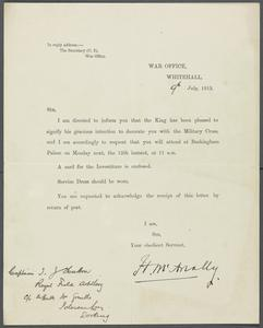 Private Papers of Lieutenant General Sir Thomas Hutton KCIE CB MC