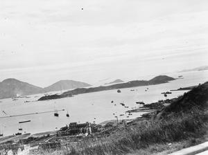 THE NAVY LANDS MOBILE WT STATION AT HONG KONG. 6 OCTOBER 1945, STONECUTTERS BAY, HONG KONG