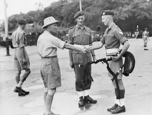 WAR SECRETARY VISITS HONG KONG. OCTOBER 1945, DURING HIS TOUR OF THE FAR EAST THE RIGHT HONOURABLE J J LAWSON, SECRETARY OF STATE FOR WAR VISITED HONG KONG.