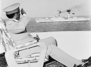 HMS CHICHESTER AT ETHIOPIA NAVY DAYS. FEBRUARY 1970, MASSAWA. THE FRIGATE HMS CHICHESTER REPRESENTED GREAT BRITAIN AT THE ANNUAL ETHIOPIAN NAVY DAYS. OTHER SHIPS TAKING PART INCLUDED US FLEET ESCORT SHIP FOREST ROYAL, THE FRENCH FRIGATE COMMANDANT BORY, THE SOVIET DESTROYER BLESTIYASCHYJ AND PATROL BOATS OF THE SUDANESE NAVY. INCLUDED IN THE PROGRAMME WAS A GRADUATION PARADE FROM THE ETHIOPIAN NAVAL COLLEGE AT MASSAWA AND A SERIES OF INTERNATIONAL SPORTING EVENTS BETWEEN TEAMS FROM THE VISITING SHIPS.
