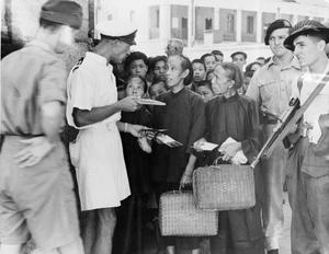 HONG KONG RE-OCCUPIED. SEPTEMBER 1945, SCENES IN HONG KONG FOLLOWING THE RE-OCCUPATION OF THE CROWN COLONY AFTER THE JAPANESE SURRENDER.