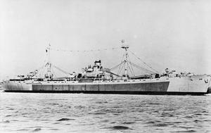 HMS DILIGENCE, BRITISH AUXILIARY FLEET REPAIR SHIP. MARCH TO AUGUST 1945.