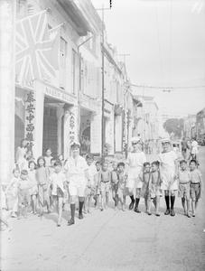 SINGAPORE: SIGHTSEEING. 8 AND 9 SEPTEMBER 1945, SINGAPORE.