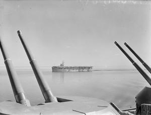 HMS EMPEROR, BRITISH ESCORT CARRIER. 20 NOVEMBER 1945, ON BOARD HMS INDOMITABLE.