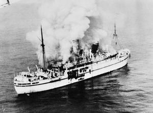 AERIAL VIEWS OF THE TROOPSHIP