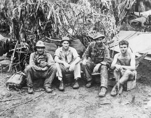 SOUTH PACIFIC SCOUTS - GUERILLAS WHO MAKE IT HOT FOR JAPS IN NEW GEORGIA, SOLOMON ISLANDS, 1944