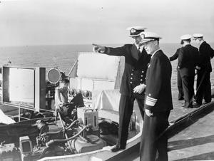 EXERCISE SEA ENTERPRISE. SEPTEMBER 1955, ON BOARD THE CARRIER HMS EAGLE, DURING NATO EXERCISE SEA ENTERPRISE IN NORTHERN WATERS.