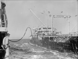 HMS KENYA IN KOREAN WATERS. FEBRUARY 1951, ON BOARD THE FIJI CLASS CRUISER HMS KENYA SERVING IN KOREAN WATERS. SHE HAS TAKEN PART IN MANY BOMBARDMENTS OFF THE KOREAN COAST.