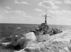 ON BOARD HMAS SYDNEY IN KOREA. OCTOBER 1951 TO JANUARY 1952, ON BOARD THE AUSTRALIAN CARRIER OPERATING IN KOREAN WATERS.