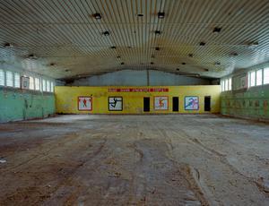 """Hold high the banner of army sport"". Gymnasium II, Krampnitz. 17.10.00."