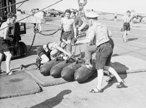 BRITISH POLICE ACTION IN EGYPT. ROYAL NAVY'S OPERATIONS IN EASTERN MEDITERRANEAN. NOVEMBER 1956, ON BOARD HMS ALBION.