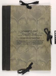 Manuscript of JOURNEY'S END by R C Sherriff, 1927