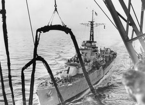 HMAS SYDNEY IN ACTION OFF KOREA. OCTOBER 1951 TO JANUARY 1952. WITH THE AUSTRALIAN AIRCRAFT CARRIER HMAS SYDNEY IN KOREA.