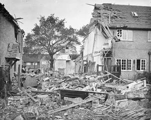 AIR RAID DAMAGE IN THE UNITED KINGDOM DURING THE FIRST WORLD WAR.