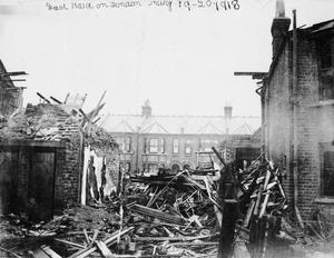 AIR RAID DAMAGE ON THE HOME FRONT DURING THE FIRST WORLD WAR