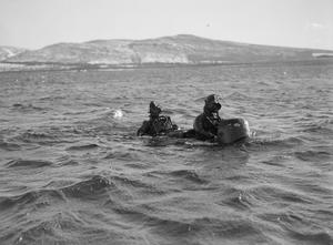 CHARIOT CRAFT AND MEN. 3 MARCH 1944, ROTHESAY.