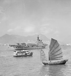 HMS VICTORIOUS REACHES HONG KONG. OCTOBER 1961, HONG KONG.