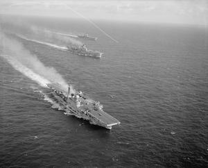 NAVAL AIRCRAFT CARRIERS IN THE MEDITERRANEAN. DECEMBER 1960, AT SEA IN THE MEDITERRANEAN.