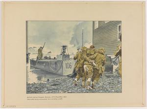 British Raid on Vaagso, Norway, 27th December 1941. Wounded being Evacuated to a Landing Craft