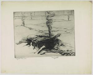 Twelve drypoints of the War 1914 -1918 - Dugout Fires, 1916