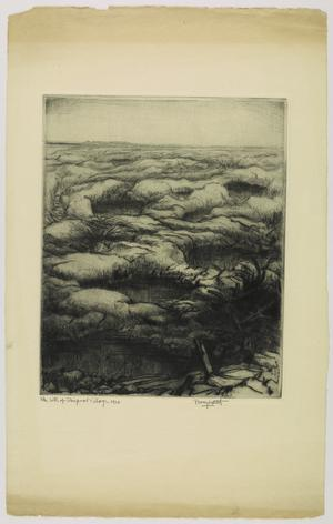 Twelve drypoints of the War 1914 -1918 - The Site of Thiepval Village, 1916