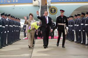 THE FIRST VISIT OF PRESIDENT GEORGE W BUSH TO BRITAIN, JULY 2001