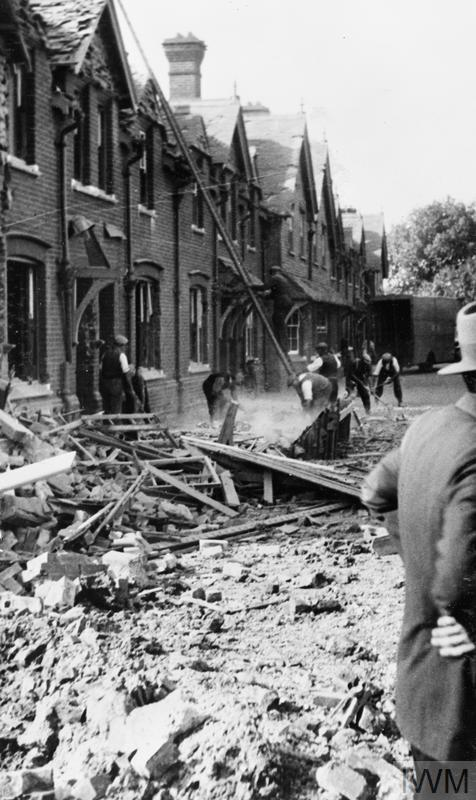 Bomb Damage In Gosport Hampshire During The Second World