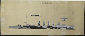 HMS Order No 33 - HMS Canarvon [Starboard]