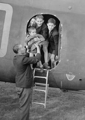 RAF STIRLINGS FLY CZECHOSLOVAK ORPHANS TO GREAT BRITAIN
