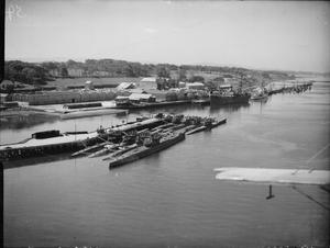 GERMAN U-BOATS SURRENDER AT LISAHALLY,  NEAR LONDONDERRY, NORTHERN IRELAND, 24 - 25 MAY 1945.