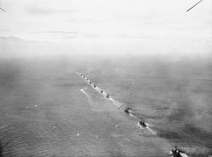 UNITS OF THE GERMAN HIGH SEAS FLEET DURING OPERATIONS IN THE NORTH SEA IN 1916.