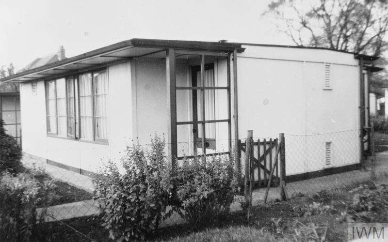 interior and exterior photographs of a second world war prefabricated bungalow  prefab  taken in