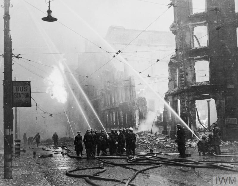 Air Raid Damage In Britain Manchester Hu 49833