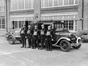 THE AUXILIARY FIRE SERVICE, ELTHAM FIRE STATION, 1939.