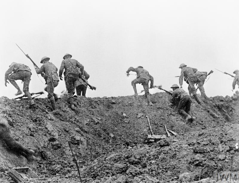 The use of trench warfare in world war i