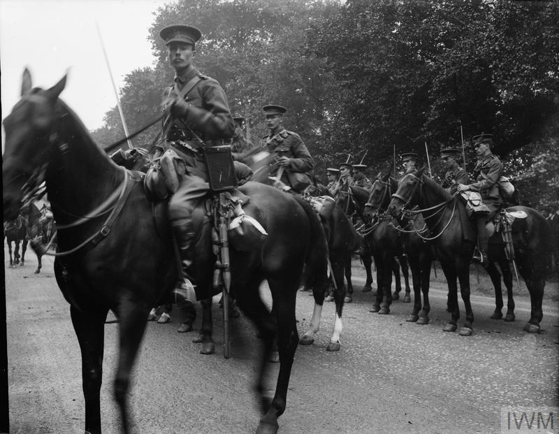 British response to the outbreak of war august 1914 1st life guards