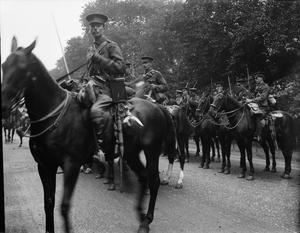 BRITISH RESPONSE TO THE OUTBREAK OF WAR AUGUST 1914: 1ST LIFE GUARDS