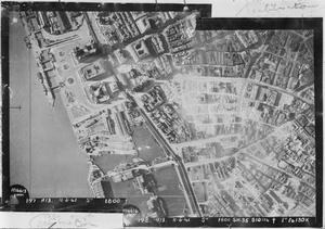 AERIAL RECONNAISSANCE VIEW OF LIVERPOOL, GREAT BRITAIN
