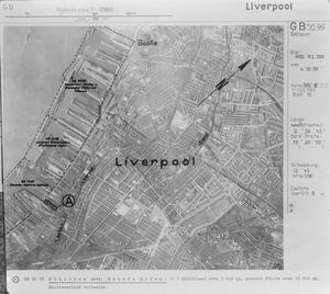 GERMAN AERIAL RECONNAISSANCE VIEW OF BOOTLE,  GREAT BRITAIN.