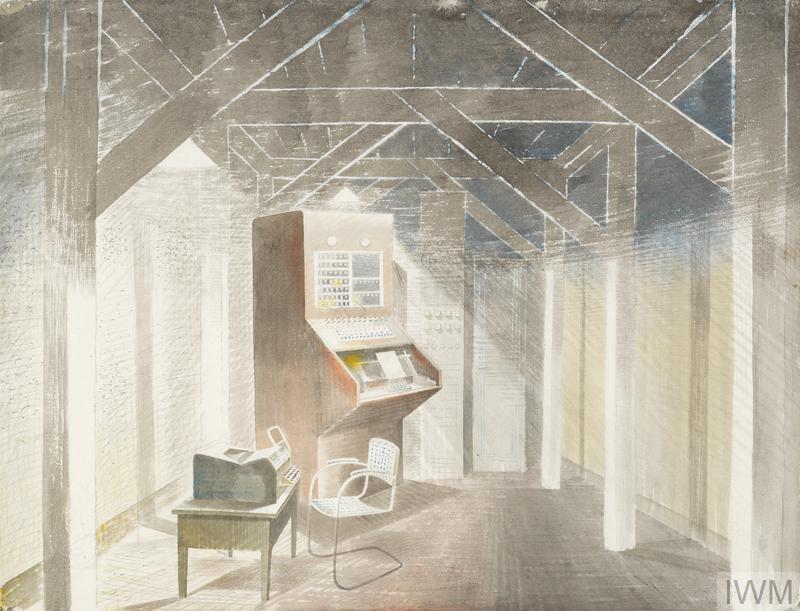 Eric Ravilious, The Teleprinter Room Watercolour, 1941