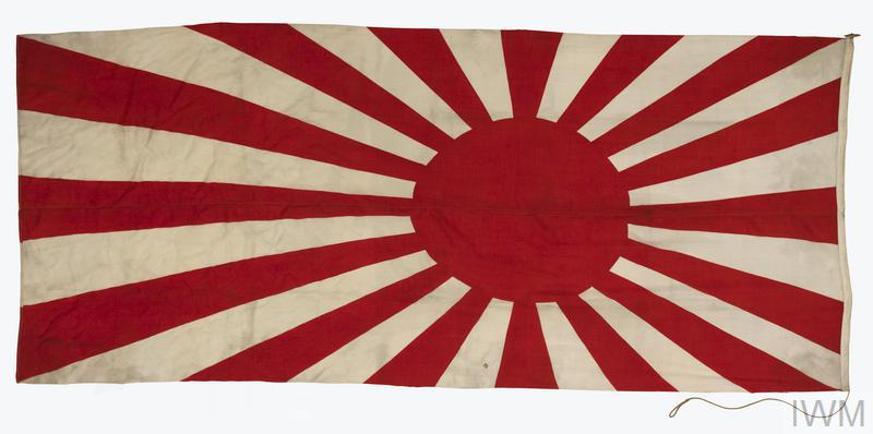 Flag Ensign Imperial Japanese Navy Imperial War Museums - Japanese flag